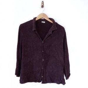 CP Shades Dobby Weave Velour 3/4 Sleeve Top